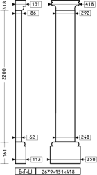пилястра 4.20.302